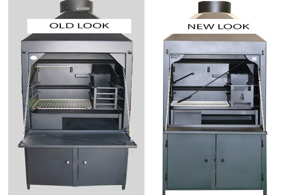 900mm Freestanding braai  -old and new