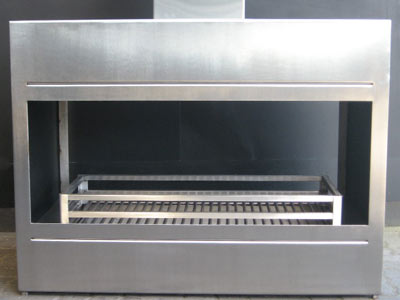 Double-sided stainless steel fireplace